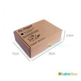 Caixa de Papelão Personalizada Pequena Papelão 340g 12X20X5,5cm 1x0   Criação da arte Grátis