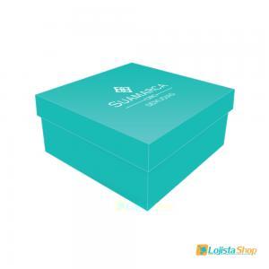 Caixa para Joias Personalizada 6x6x3cm Papel Couchê 300g 6x6x3cm 4x0 - Frente Colorida Sem Brilho  Criação da arte Grátis