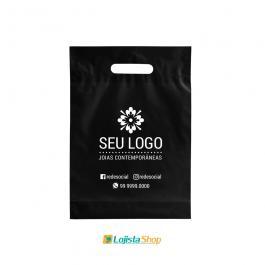 Sacola Boca de Palhaço Personalizada 30X40cm Média Plástico 0,09 30x40cm 1 Cor 1 Lado  Silk Screen Criação da arte Grátis