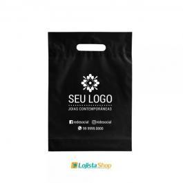 Sacola Boca de Palhaço Personalizada 40X50cm Grande Plástico 0,09 40x50cm 1 Cor 1 Lado  Silk Screen Criação da arte Grátis