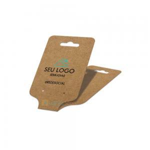 Tag para brincos e colares Kraft 4,5x17cm Papel Kraft 300g 4,5x17cm  Sem Brilho  Criação da arte Grátis